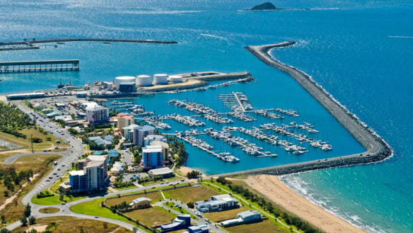 The Mackay Marina on the Great Barrier Reef.