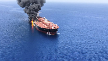 'Attacks' on oil tankers stoke worries about US-Iran conflict