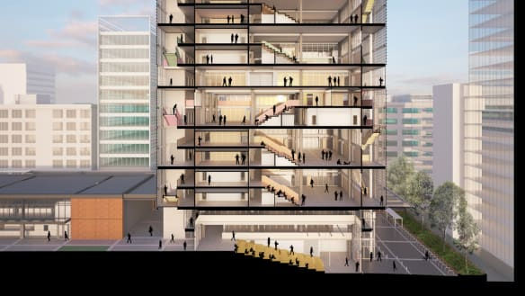 An artist's impression of the new Arthur Phillip High School, whose finish date and budget have blown out substantially.