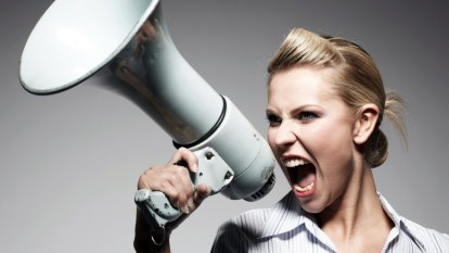 Loud message for talkative co-workers