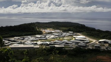 An overview of the Christmas Island detention centre, photographed in 2010.