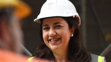 """Queensland Premier Annastacia Palaszczuk has called on Indian company Adani to """"get on with it"""" and build its controversial $16.5 billion Carmichael mine."""