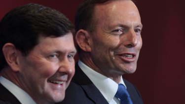 Liberal MP Kevin Andrews and former prime minister Tony Abbott.