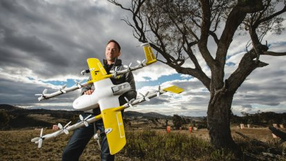 Delivery drone trial boss fronts ACT government committee