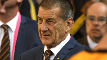 """Hawthorn president Jeff Kennett has not backed away from his """"new arrivals"""" comments."""