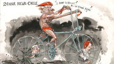 A David Rowe cartoon of Tony Abbott, as we've come to know him.