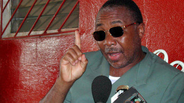 Convicted war criminal and former Liberian president Charles Taylor in 2003.