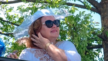 Gina Rinehart, pictured at last year's Derby Day, is now worth $US17.9 billion, according to Bloomberg.