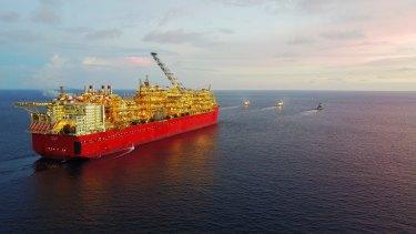 Shell's Prelude floating LNG platform.