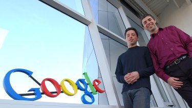 Google co-founders Sergey Brin, left, and Larry Page have been named in the suit.