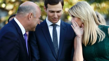 Former White House chief economic adviser Gary Cohn, left, consulted Kushner and Trump in the wake of the President's controversial Charlottesville comments, the book says.