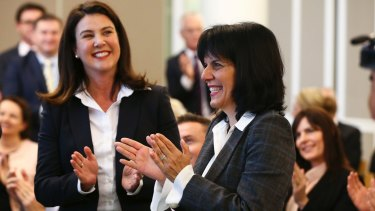 """She has betrayed us all"": Liberal senator Jane Hume (left) unloaded on her former friend Julia Banks (right)."