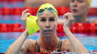 Emma McKeon after her 100m freestyle semi-final.
