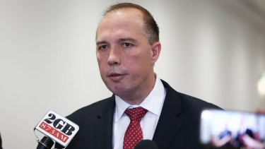 Then Immigration Minister Peter Dutton in 2015.