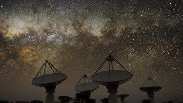 The Australian Square Kilometre Array Pathfinder telescope in Western Australia.
