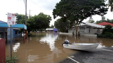 Brisbane streets were flooded as the river burst its banks in January 2011.