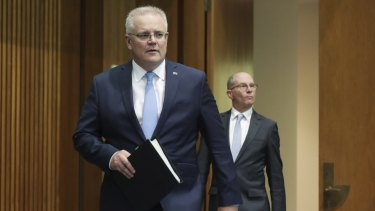 Prime Minister Scott Morrison and Acting Chief Medical Officer Professor Paul Kelly.