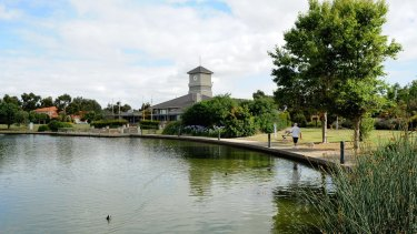 Caroline Springs Lake in Melbourne's west.