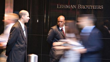 Lehman Brothers caused a tidal wave of troubles at other banks that were connected through derivatives.