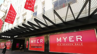 Myer reported a loss of nearly $200 million last week.
