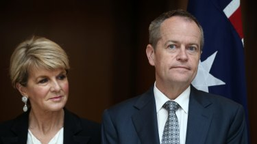 Labor leader Bill Shorten has praised former foreign affairs minister Julie Bishop.
