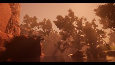 Christian Thompson's VR work Bayi Gardiya transports audiences to a creek called The Sixth Mile.