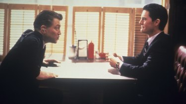 <i>Twin Peaks</i> co-creator David Lynch, left, as FBI Bureau Chief Gordon Cole and Kyle  MacLachlan as Special Agent Dale Cooper.