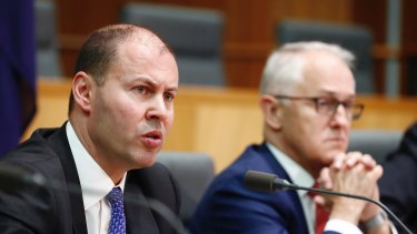 Minister for Environment and Energy Josh Frydenberg and Prime Minister Malcolm Turnbull.