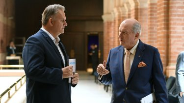Mark Latham and Alan Jones in 2017.