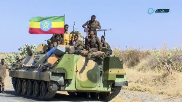 The Ethiopian military advanced on the Tigray region in November.