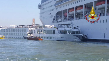 The collision happened at about 8:30am on the Giudecca Canal, a major thoroughfare that leads to Saint Mark's Square.