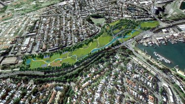 The interchange will be up to 65 metres below the surface at Rozelle.