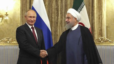 Iran's President Hassan Rouhani and Vladimir Putin will flex their muscles in the Middle East in 2019.