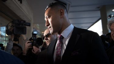 Former Wallaby Israel Folau settled an unlawful dismissal case with Rugby Australia last year over religiously motivated social media posts.