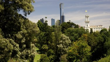 Melbourne's Royal Botanic Gardens: dogs must be kept leashed at all times.