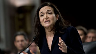 """We know we have a lot of work to do"": Facebook's Sheryl Sandberg."