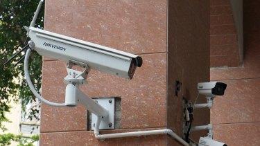 Hikvision surveillance cameras.