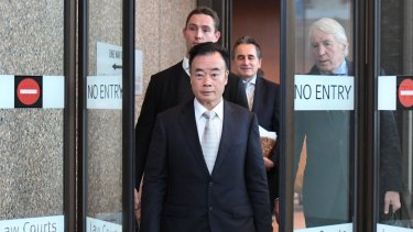 Businessman Chau Chak Wing leaves the Federal Court in Sydney in 2018.
