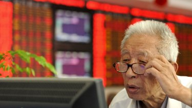 China's sharemarket is finding support at the 200-day moving average line.