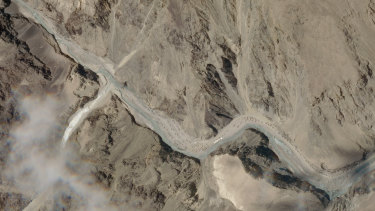 The Galwan Valley area in India's Ladakh region.