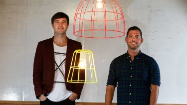 Junkee co-founders Neil Ackland (left) and Tim Duggan (right) before they sold to oOh!Media in 2016.