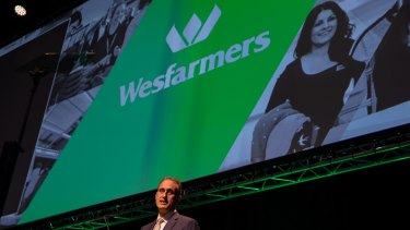 Managing director Rob Scott at the Wesfarmers' 2018 annual general meeting.