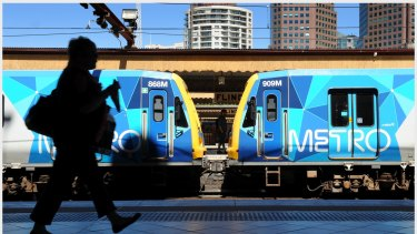 Metro Trains met its punctuality target only six times in the past 12 months.