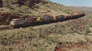 Autonomous iron ore trains are travelling hundreds of kilometres on each journey.