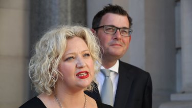 Victorian Premier Daniel Andrews and Attorney-General Jill Hennessy