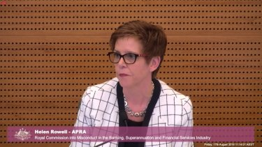 Helen Rowell gives evidence at the banking royal commission on August 17, 2018.