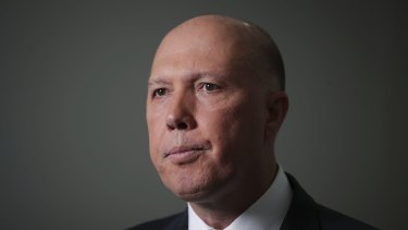 Minister for Home Affairs Peter Dutton