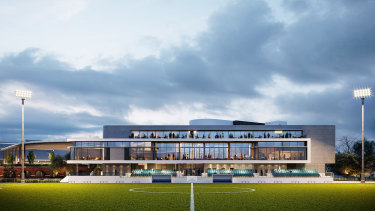 An artist's impression of the White City redevelopment proposed by the Hakoah Club.