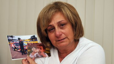 Adriana Buccianti with photos of  her late son Daniel.