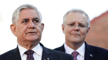 Minister for Senior Australians and Aged Care Ken Wyatt with Prime Minister Scott Morrison.